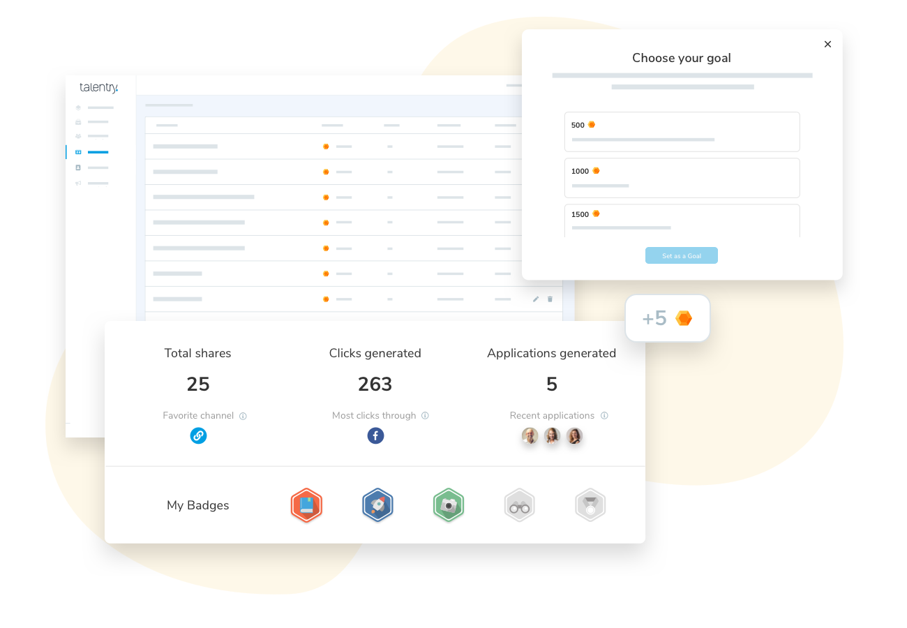 Talentry Employee Referral Software: Gamification